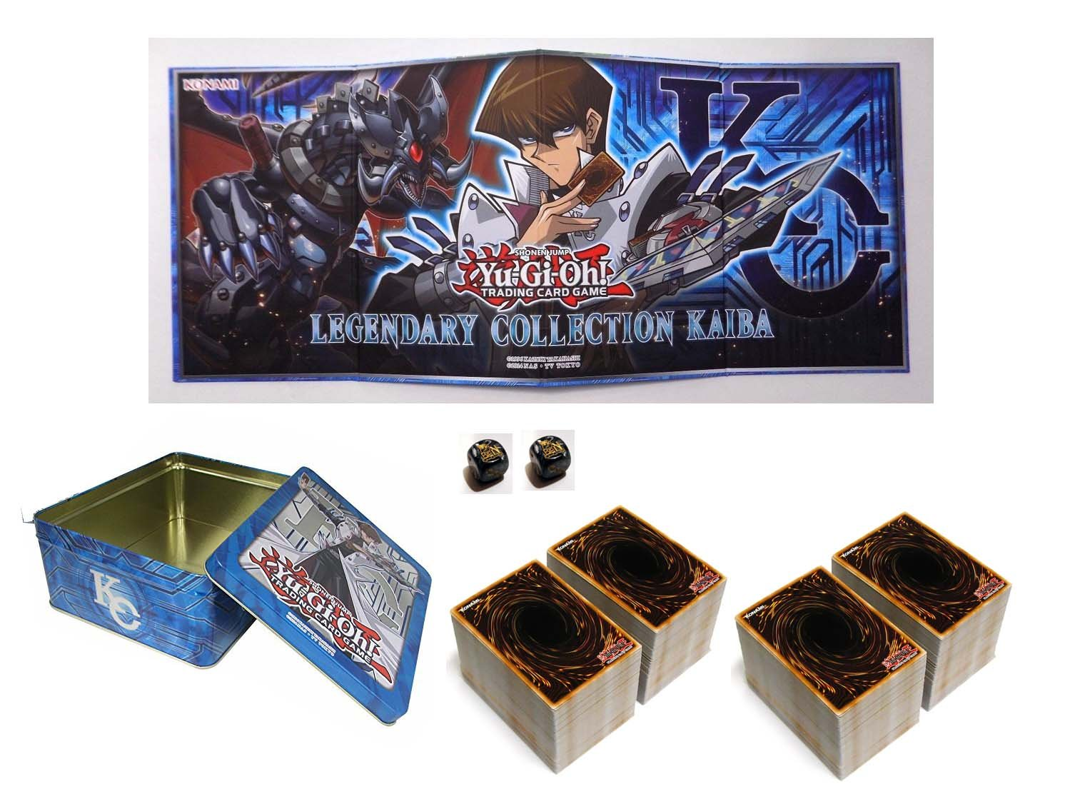 2000 Assorted Yugioh Cards! with 50 Rares and 50 Holos! 1 Yugioh Gameboard! Includes 1 Yugioh Empty Tin by Yu-Gi-Oh! (Image #1)