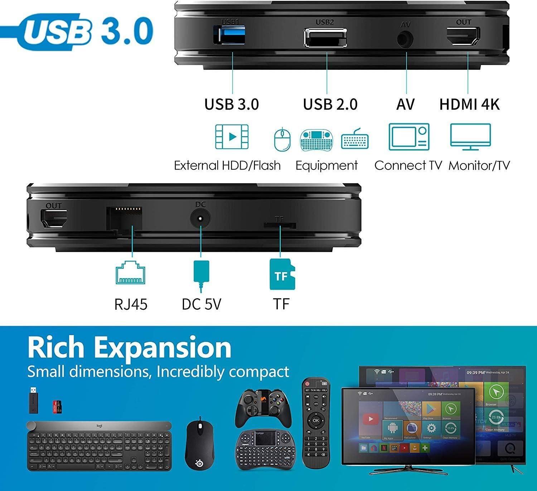 H.265 Decoding 2.4GHz WiFi 2GB RAM 16GB ROM 28nm Quad Core Cortex A7 High Cost Performance 4K Ott Box Solution RK3229 Arm Mali-400 GPU Box HK1 Mini+ Android 9.0 Smart TV Box