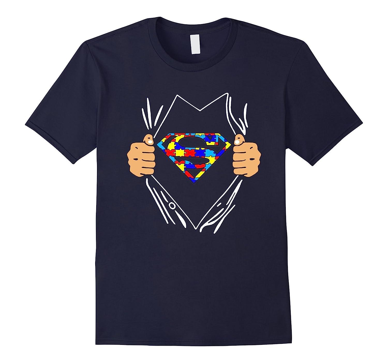Superheroes speak autism t shirt cd canditee for Talk texan to me shirt