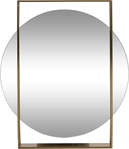 Olina Modern Round Framed Wall Mirror