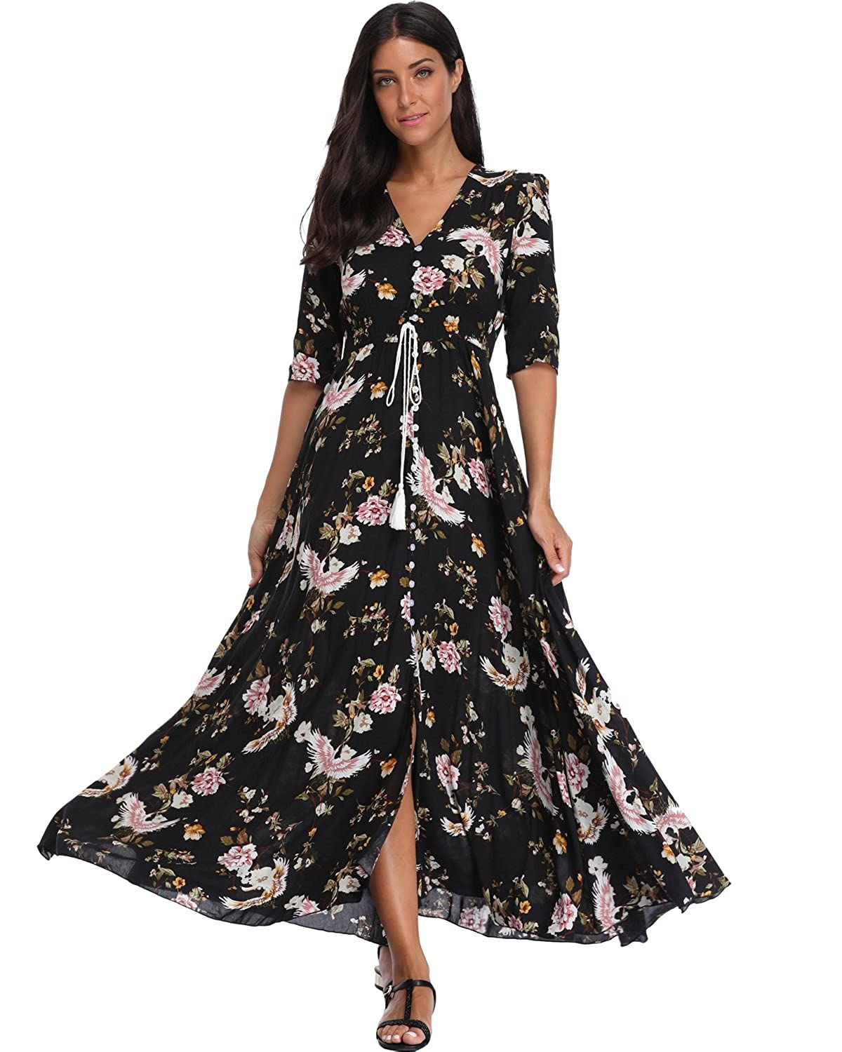 6c23bb1c620 Material The Floral Maxi Dress made of 100% Rayon ( Comfortable