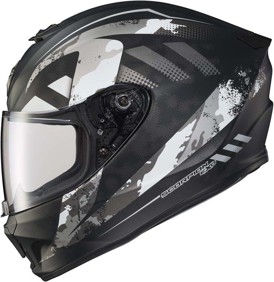 XX-Large Distiller Matte Black//Silver Scorpion EXO-R420 Helmet