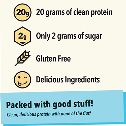 Jimmy Clean Protein Bar, Peanut Butter Crunch Energy Bar, 20g Protein, Low Sugar, Gluten Free, Single Sample Bar