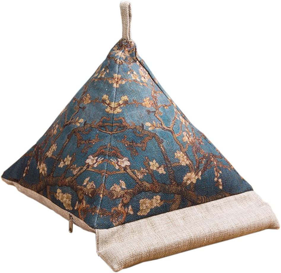 Triangle pillow book and tablet holder