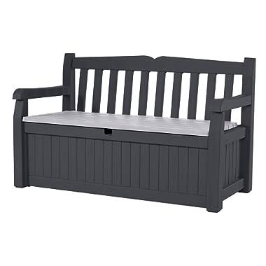 Keter 229437 Eden Storage Bench, Grey