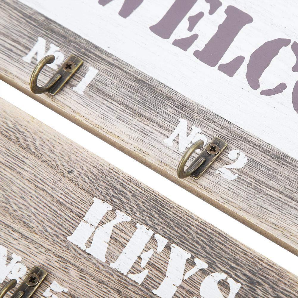 Herramientas de decoraci/ón para el hogar Ganchos para Colgar Ropa Ganchos para Colgar en la Pared Caja de Soportes Decorativos Blanco Accesorios