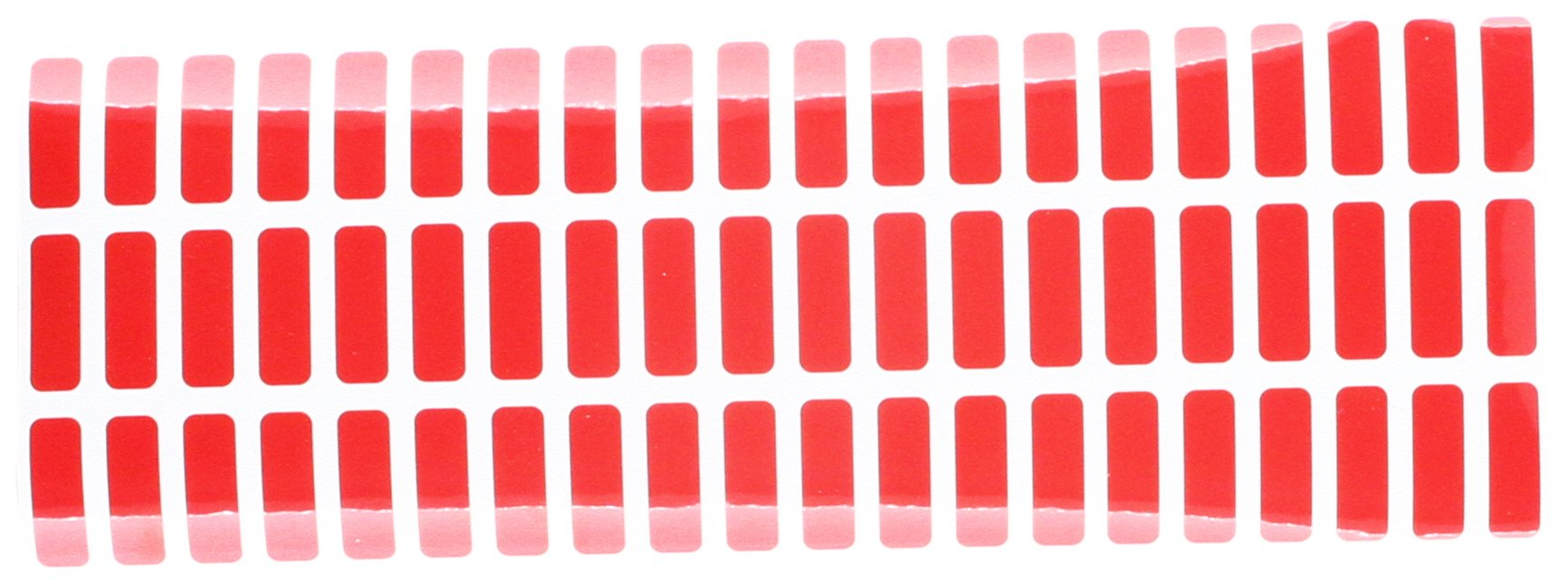 """500 Red TamperColor Tamper Evident Red Security Label Seal Sticker, Rectangle 0.75"""" x 0.25"""" (19mm x 6mm)."""