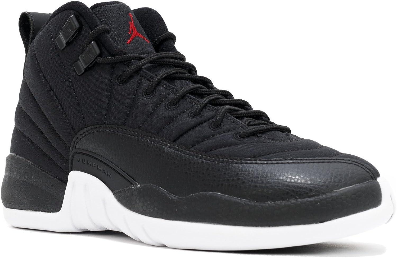 Nike Boys Air Jordan 12 Retro BG Neoprene Black//Gym Red-White Leather Size
