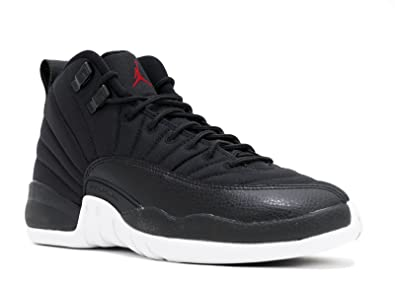 3835e724516916 Image Unavailable. Image not available for. Color  Nike Boys Air Jordan 12  Retro BG Neoprene Black Gym Red-White ...