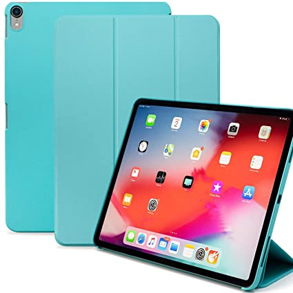 uk availability e5a5e a5a31 KHOMO iPad Pro 11 Inch Case (Released 2018) - Dual Mint Green Super Slim  Cover with Rubberized Back and Smart Feature