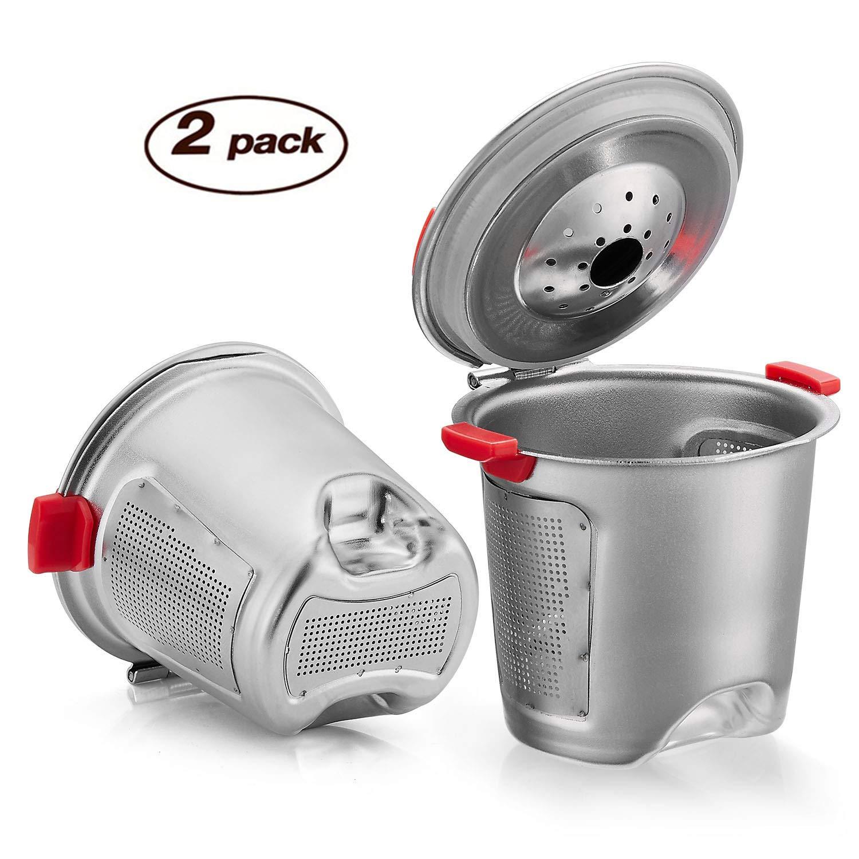 Reusable K Cups Keurig Filter For Keurig Coffee Maker Universal Stainless Steel Reusable Coffee Filter Keurig Accessories 2019 New Generation (2Pack)