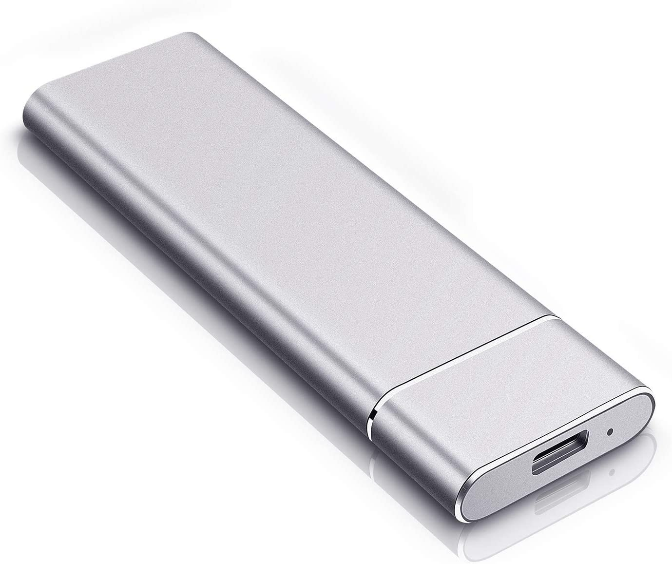 Portable External Hard Drive - Ultra Slim Portable Hard Drive External 1TB 2TB Hard Drive Compatible with Mac, Laptop, PC (2TB-Silver)