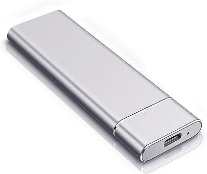 Disco duro externo portátil USB 3.0, almacenamiento externo para PC, portátil, PS4, Xbox One, Mac plata 2 tb: Amazon.es: Electrónica