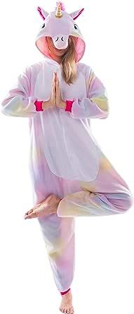Spooktacular Creations Cosplay Pijama de Unicornio Disfraces para Chica Mujer Mono Una Pieza Ropa de Dormir