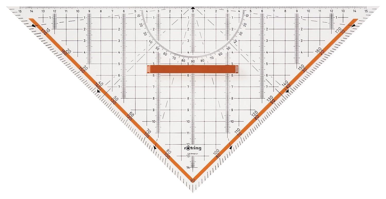 gro/ß, 23/cm rOtring Centro-Geometrie-Dreieck mit Griff
