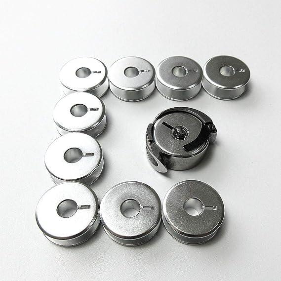 Gancho de lanzadera grande #81952 + 10 bobinas #82552 para máquinas de coser Singer 29K, 29-4: Amazon.es: Hogar