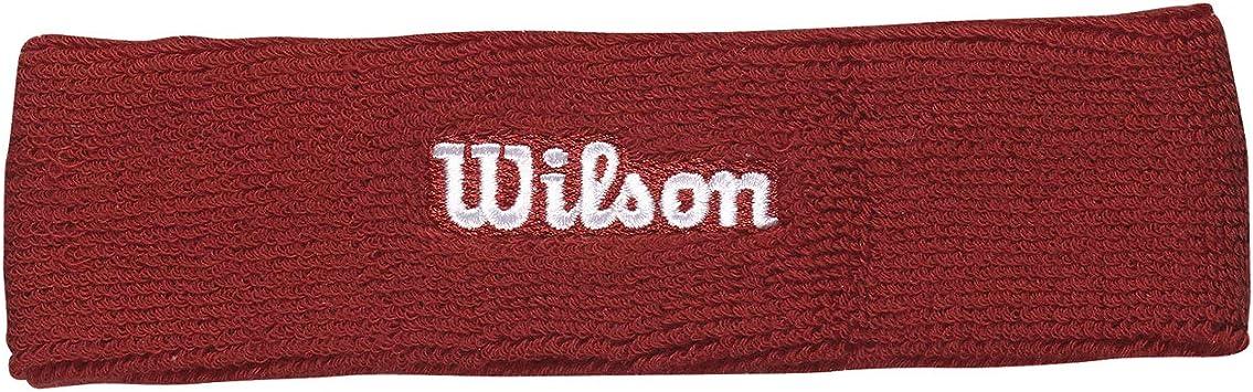 Wilson Cinta para la cabeza, Felpa francesa, Talla única, Rojo ...