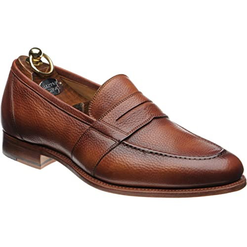 Herring Herring Dartford - Mocasines para hombre marrón Tan Soft Grain: Amazon.es: Zapatos y complementos