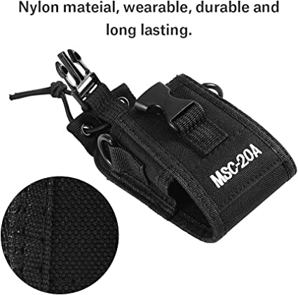 Zerone Universal Walkie Talkie Nylon Belt Case Bag with Adjustable Shoulder Strap Two Way Radio Holder Holster Case MSC-20A for Kenwood//Motorola// HYT Two-Way Radio