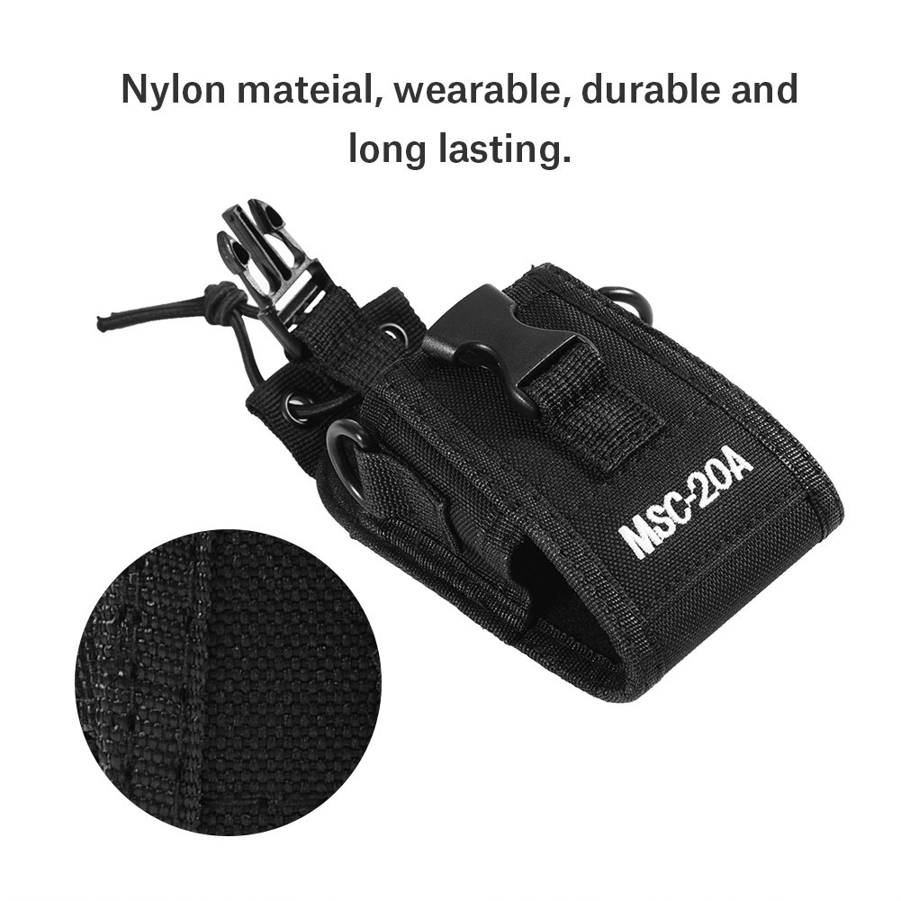 Zerone Universal Walkie Talkie Nylon Belt Case Bag with Adjustable Shoulder Strap Two Way Radio Holder Holster Case MSC-20A For Kenwood/Motorola/HYT Two-Way Radio by Zerone (Image #2)