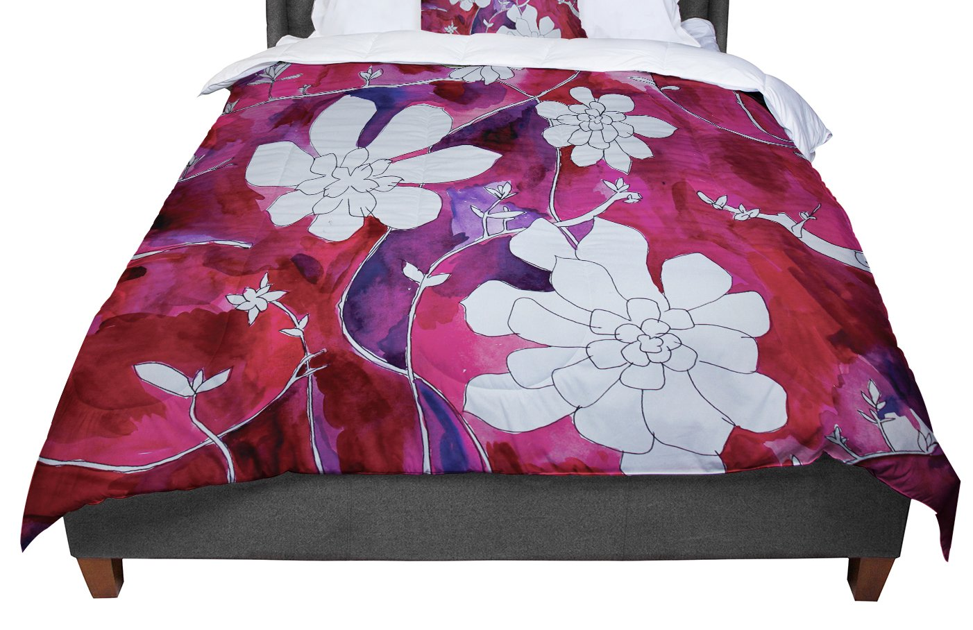 KESS InHouse Theresa Giolzetti ''Succulent Dance II'' King / Cal King Comforter, 104'' X 88''