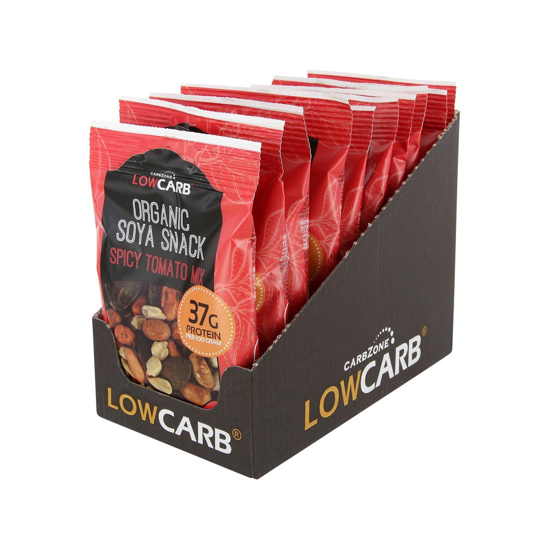 Bocadillo de soja baja en carbohidratos - Mezcla de Tomate - CarbZone (Paquete de 10): Amazon.es: Alimentación y bebidas