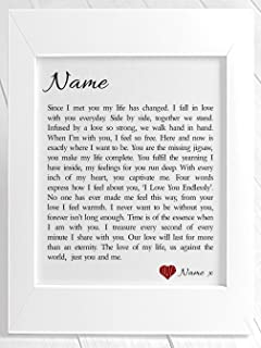 Personalised Love Letter Romantic Poem Gift Set A Lifetime