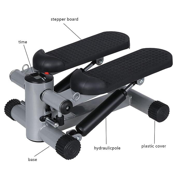 grapest Mini Stepper Máquina de Step Fitness Stepper Twister Ejercicio en Casa: Amazon.es: Deportes y aire libre