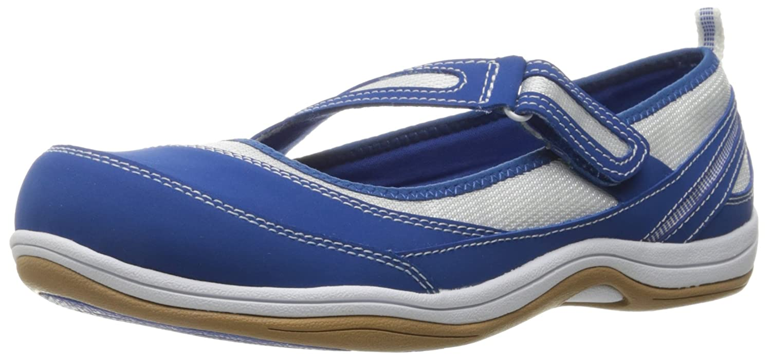 Easy Street Women's Jules Flat B01AB4HMTG 6 W US|Blue/White