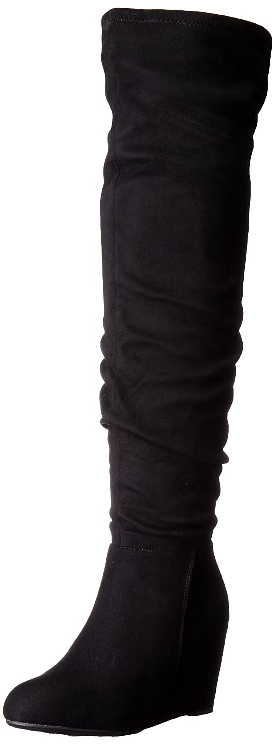 Chinese Laundry Women's Ultra Wedge Boot Suedette B01E0QK59A 5.5 B(M) US|Black Suedette Boot 45feed