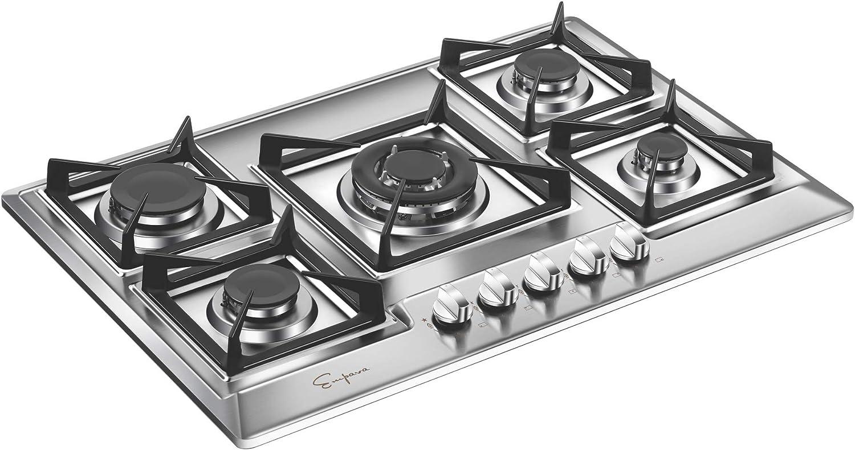 Amazon.com: Empava - Quemador de cocina de acero inoxidable ...