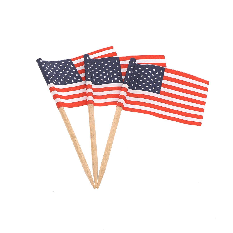 Royal American Flag Picks, Box of 1000