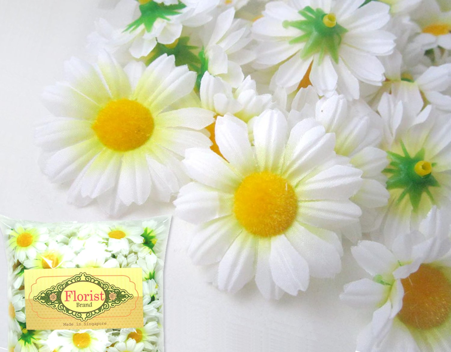 Amazon 24 silk white gerbera daisy flower heads gerber amazon 24 silk white gerbera daisy flower heads gerber daisies 175 artificial flowers heads fabric floral supplies wholesale lot for wedding izmirmasajfo