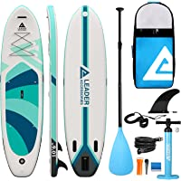 """Leader Accessories Inflatable Stand Up Paddle Board 10'6""""x33""""x6"""" ISup for All Skill Levels with SUP Accessories…"""