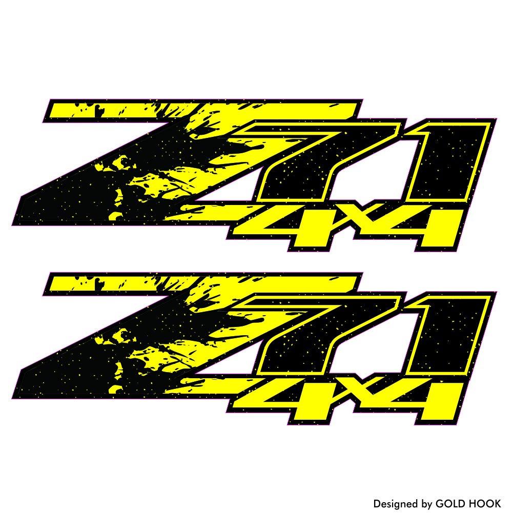 Amazon com gold hook z71 logo decals bedside bed panel chevy silverado gmc sierra truck sticker sports outdoors