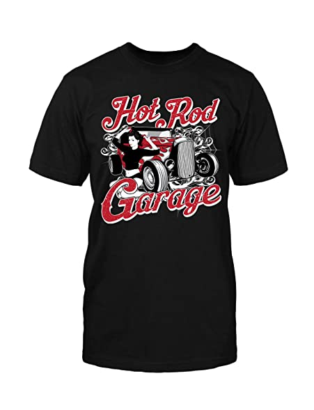 Hot Rod T-Shirt Rockabilly Vintage Old School Tattoo College Retro Fun Car