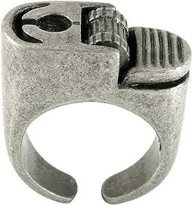 Ellenviva Non-Functional Got a Smoke Ring Vintage Silver Tone- Size 7