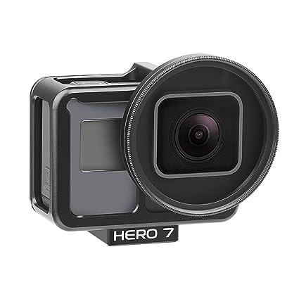 Yangers Carcasa Protectora de aleación de Aluminio para GoPro Hero 7 Black 6 5 cámaras de acción, Funda de Metal rígido Lado Abierto Cubierta de la ...