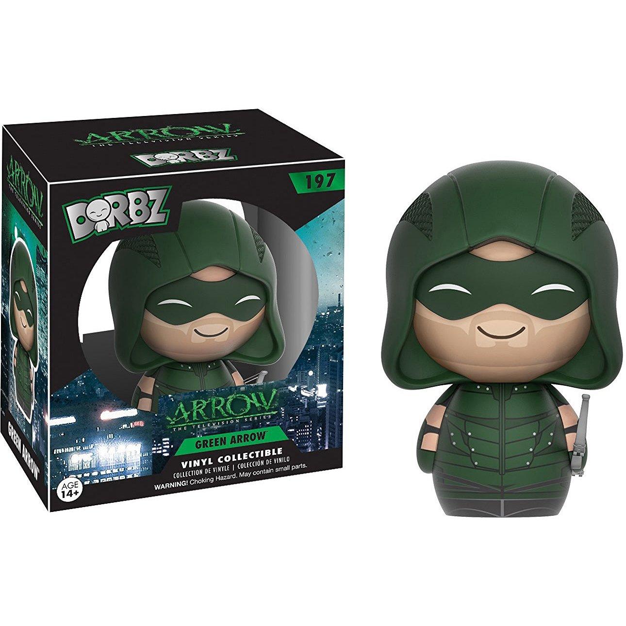Green Arrow Funko Dorbz x Arrow TV Series Mini Vinyl Figure 1 FREE Official DC Trading Card Bundle 113113