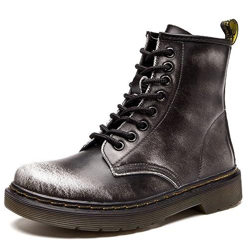 SITAILE Moda Invierno Zapatos Boots Botines Botas de Nieve Botas Para Hombre Mujer,Blanco,36
