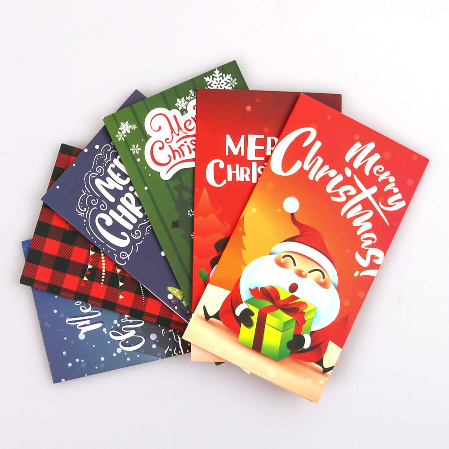 Aneco 36 Sets Christmas Money Cards Holder Christmas Wishes Gift Card Paper Holder with Envelopes for Xmas Holiday Supplies