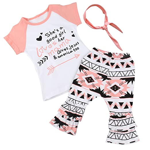 fdfedb595ee Image Unavailable. Image not available for. Color  3Pcs Toddler Kids Baby  Girls Summer Clothes ...