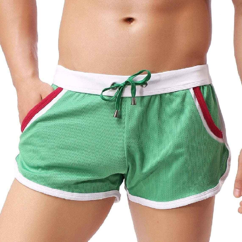 LinkShowMen Luxury Striped Athletic Holiday Casual Beach Sports Pants Shorts
