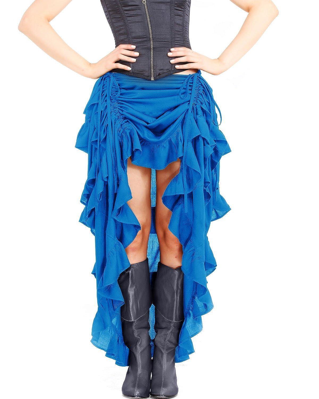 ThePirateDressing Steampunk Victorian Gothic Punk Vampire Show Girl Skirt C1367 [Hawaiian Ocean]