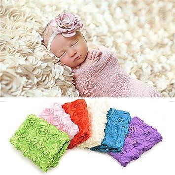 Amazon Com Feitong Newborn Baby Boy Girl Rose Soft Blanket