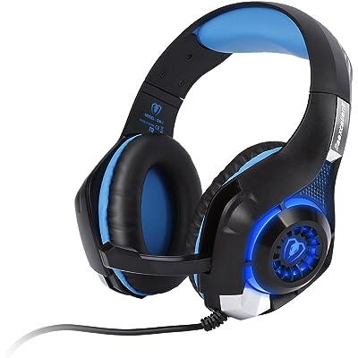 Tsing Auriculares Gaming Estéreo con Micrófono para PC/Mac PS4/PSVita y Móviles