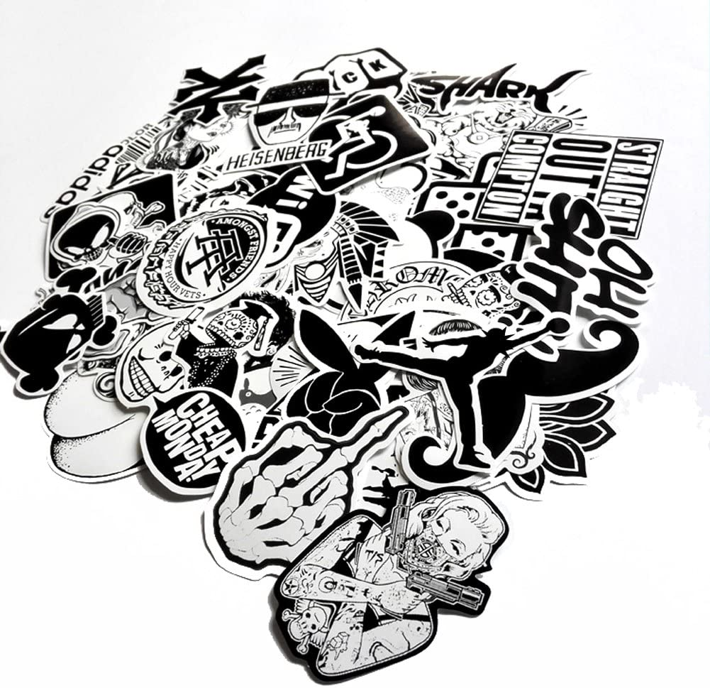 DreamerGO Cool Graffiti Stickers 100 Pieces Various Car Motorcycle Bicycle Skateboard Laptop Luggage Vinyl Sticker Graffiti Laptop Luggage Decals Bumper Stickers