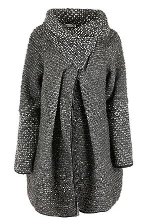 Comfiestyle - Abrigo - Abrigo - para Mujer Gris Gris Talla única