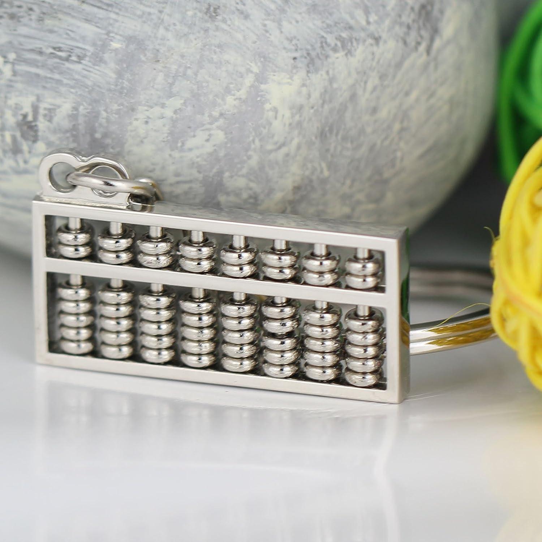 Maycom Creative Style chinois 3.5/cm de long 8/Rangs Dor/é rotatifs Abacus Keychain Porte-cl/és Anneau porte-cl/és Porte-cl/és S dor/é