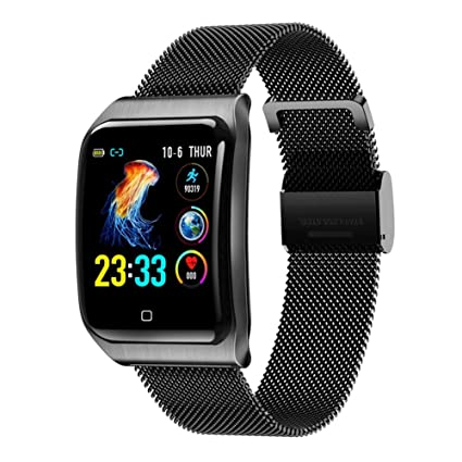 Amazon.com: ZLLZ Color Screen Smart Bracelet, 1.3 Metal Belt ...
